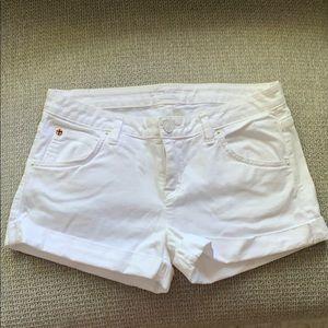 White Hudson Jeans Shorts